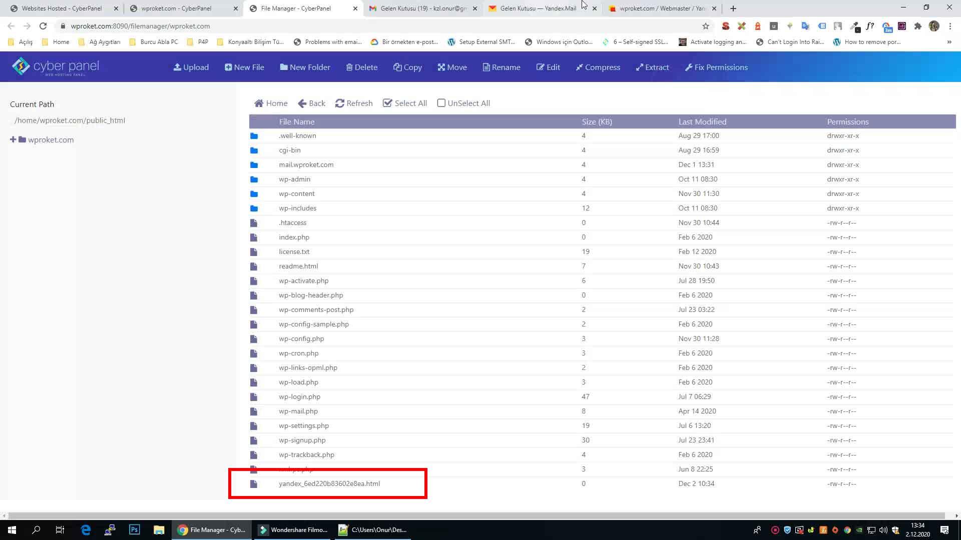 Yandex kurumsal mail ayarları domain doğrulama